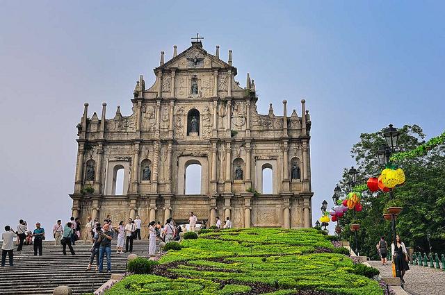 Nhà thờ thánh Paul nổi tiếng ở Macao