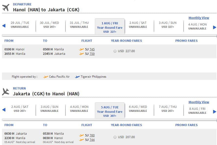 hn - Vé máy bay đi Indonesia bao nhiêu tiền?