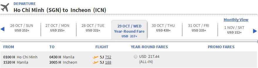 Vé máy bay Hồ Chí Minh đi Incheon giá rẻ