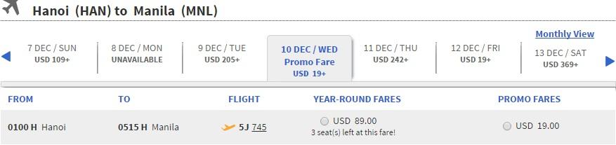 Siêu khuyến mại Hà Nội đi Manila 19 USD
