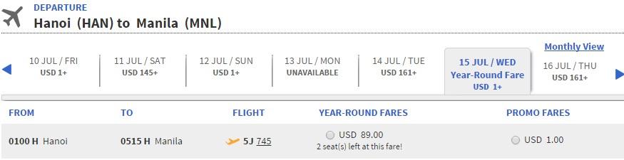 Ưu đãi vé máy bay đi Philippines chỉ còn 1 peso