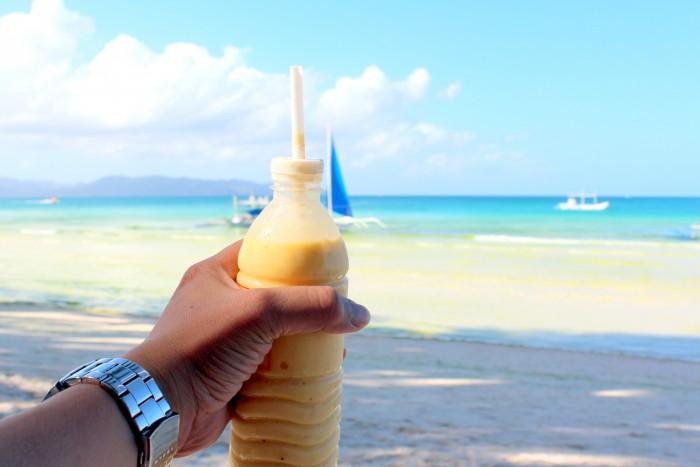 thưởng thức Mango shake boracay
