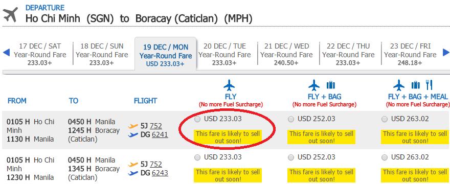 HCM-Boracay t12 cebu