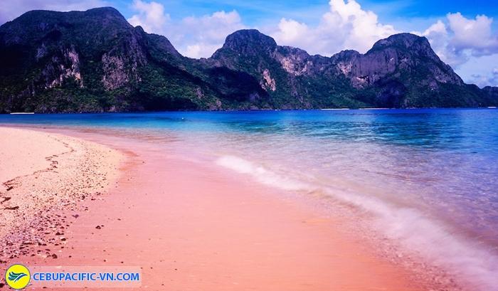 Bãi biển cát hồng trên đảo Samar
