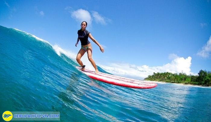 Lướt sóng ở Siargao