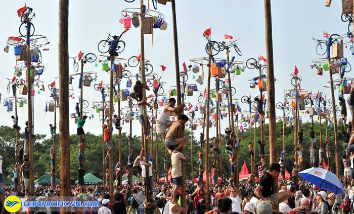 Lễ hội trèo cau bôi mỡ
