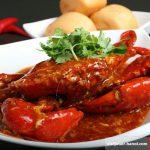 Món cua sốt cay Chili crab cay cay