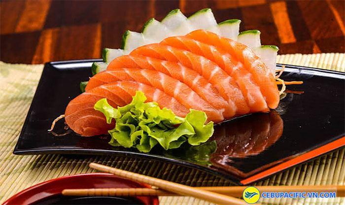 thì Sashimi chính là nữ hoàng của của hương vị tinh khiết đến từ đại dương