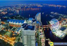 Du lịch ngoại ô vùngYokohama Nhật Bản với những tòa nhà cao tầng