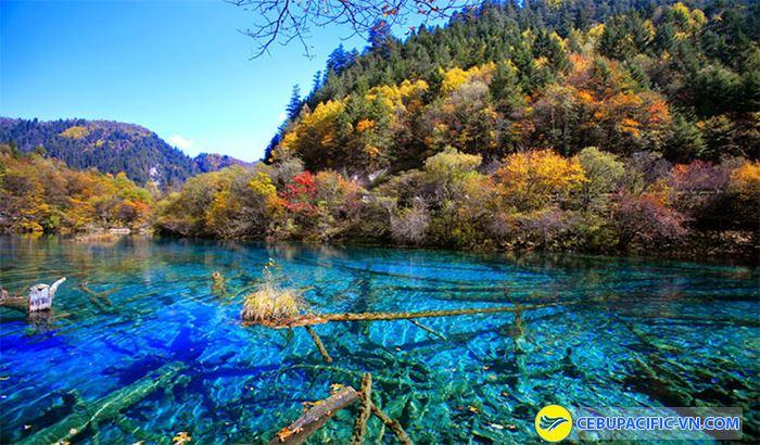 Thung lũng Jiuzhaiyou trong xanh tuyệt đẹp