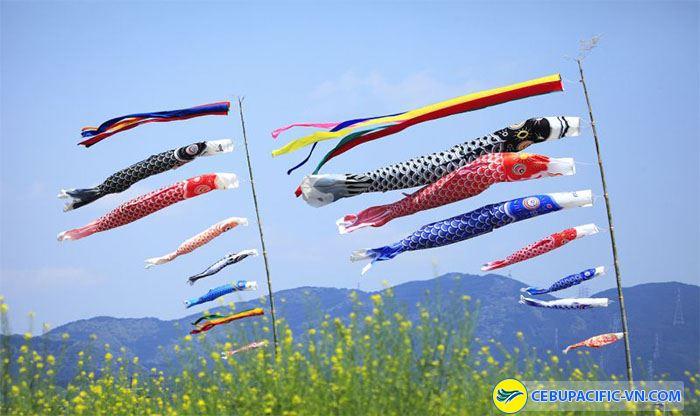 Lễ hội cá chép cầu may mắn cho các em bé của người Nhật Bản