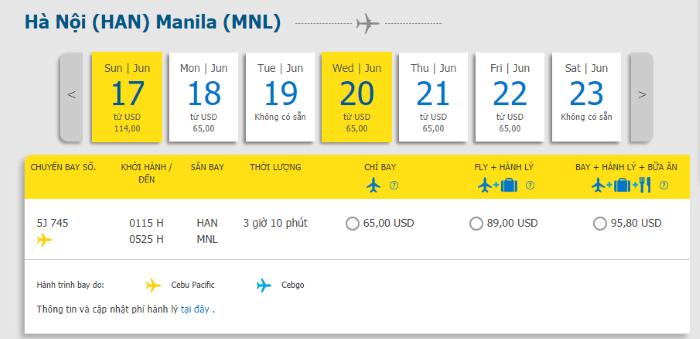 Hồ Chí Minh đi Manila
