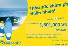 Cebu Pacific khuyến mãi vé bay chỉ từ 79 USD đi Manila
