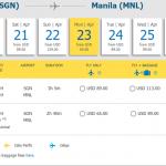 Chiều về từ Manila-Hồ Chí Minh