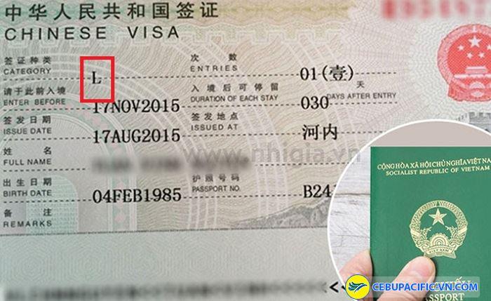 Visa đi du lịch thuộc loại L