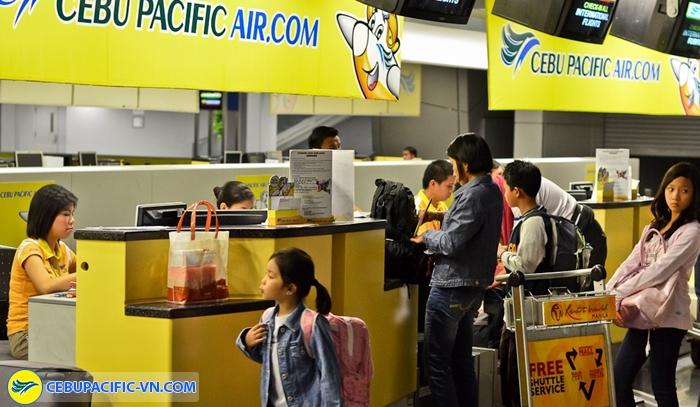 Quầy check-in hành lý Cebu Pacific