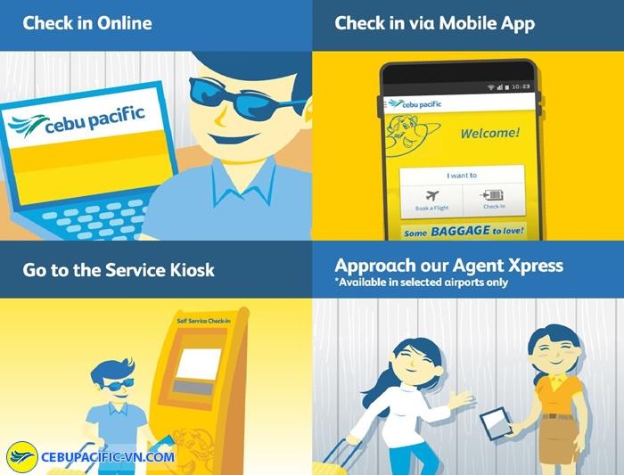 Tự làm thủ tục check-in Cebu Pacific