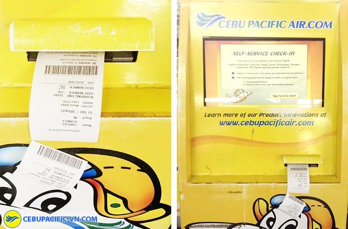 Kiosk check-in Cebu Pacific