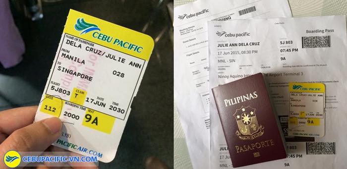 Điều kiện thay đổi vé Cebu Pacific
