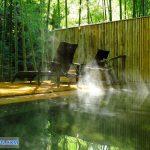 Hồ tắm nước nóng riêng biệt nằm bên trong