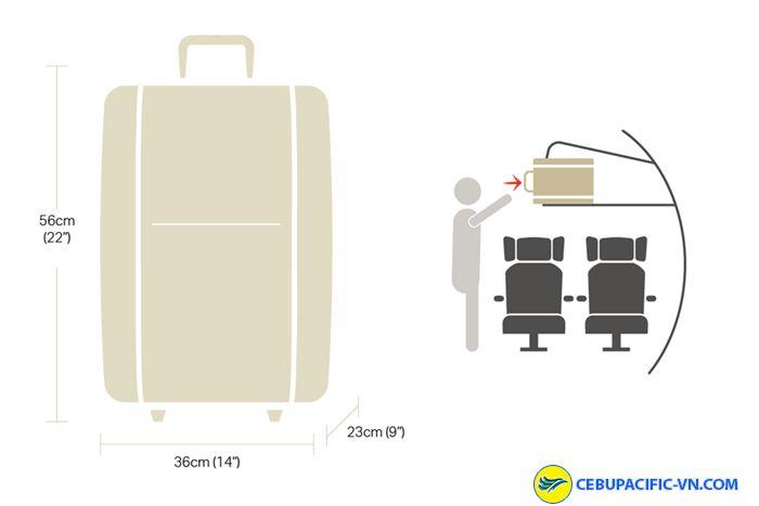 Đối với hành lý xách tay trên các chuyến bay Airbus