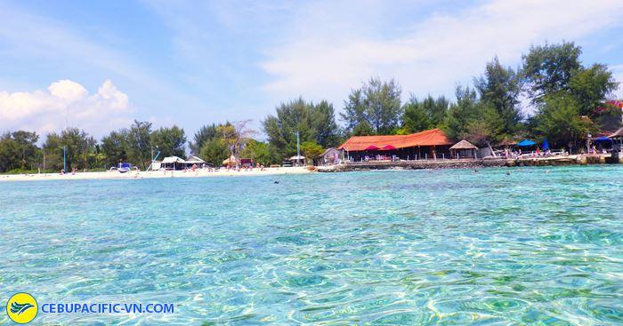 Hòn đảo Gili nổi tiếng với nước biển xanh ngắt