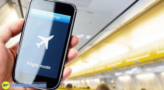 Đưa thiết bị điện tử về chế độ máy bayĐưa thiết bị điện tử về chế độ máy bay