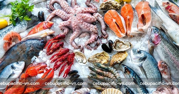 Tất cả các loại hải sản tươi sống đều phải vận chuyển dưới dạng hành lý kí gửi