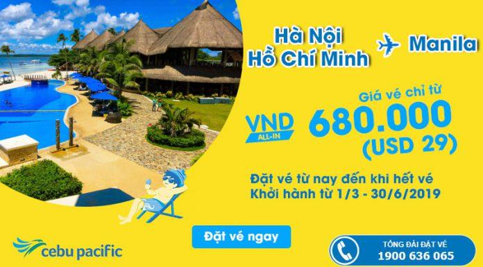 Chỉ 29 USD từ Cebu Pacific kết nối Việt Nam – Manila