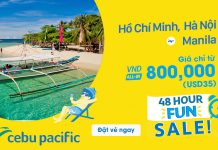 Khuyến mãi chỉ 45 USD tận hưởng mùa hè tuyệt vời tại Manila