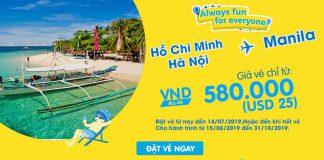 Cebu Pacific khuyến mãi siêu hấp dẫn chỉ 25 USD trải nghiệm Manila