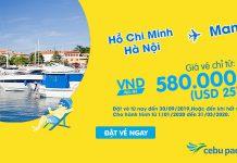 Khuyến mãi chỉ 25 USD bay khám phá Philippines cùng Cebu Pacific