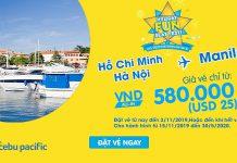 Chỉ 25 USD khuyến mãi từ Cebu Pacific trải nghiệm Philippines