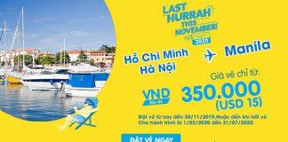 Bay từ Việt Nam đến Philippines chỉ 25 USD khuyến mãi từ Cebu Pacific