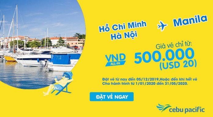Khuyến mãi chỉ 20 USD cùng Cebu Pacific khám phá Philippines